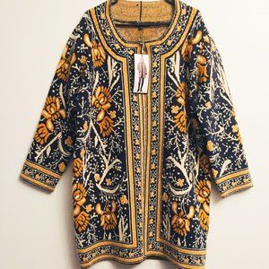 New! MAXSPORT Cardigan Sweater Floral Coat WH780